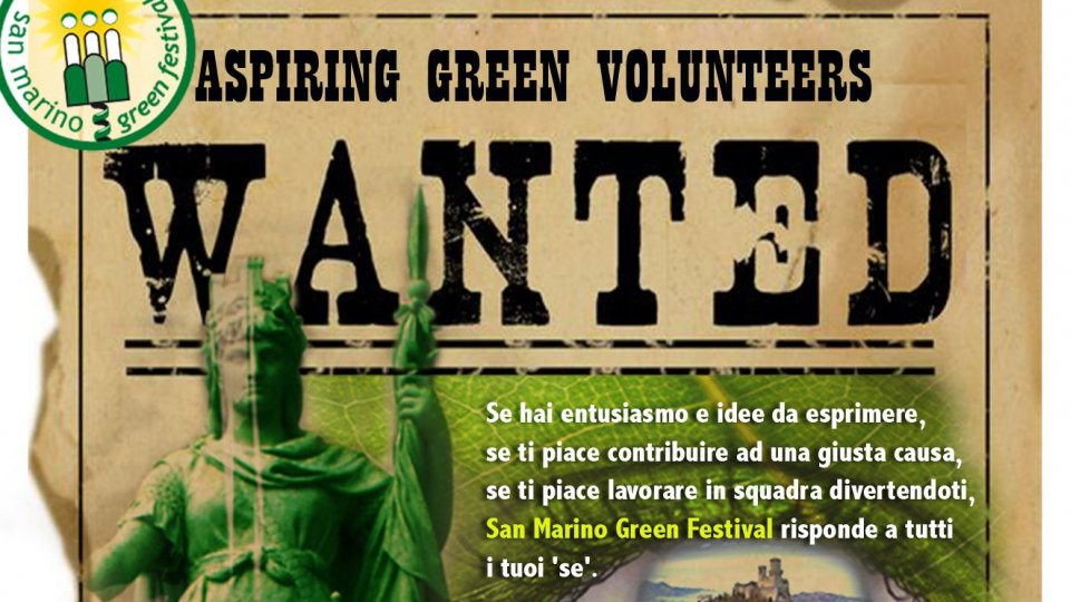 San Marino Green Festival: cercasi volontari