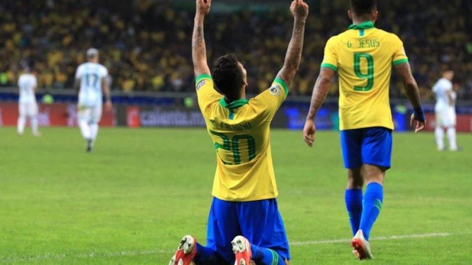 Copa America: Brasile batte Argentina e vola in finale