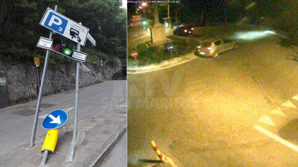 Le immagini dell'incidente riprese dalle telecamere del Gaps