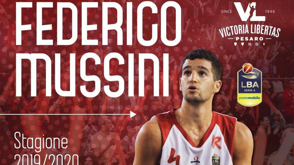 Federico Mussini è ufficialmente un nuovo giocatore della Vuelle
