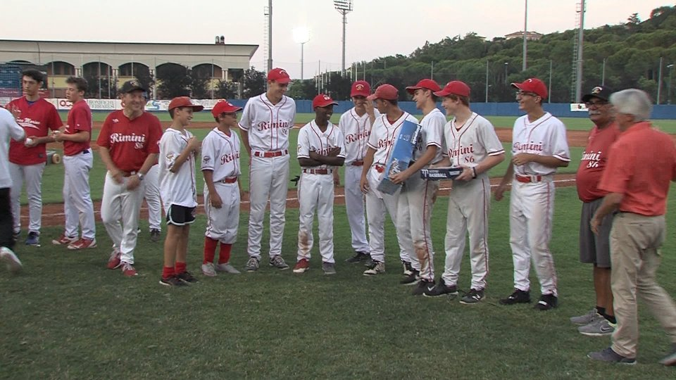 Torneo di Baseball a San Marino tra le squadre giovanili di San Marino e Rimini
