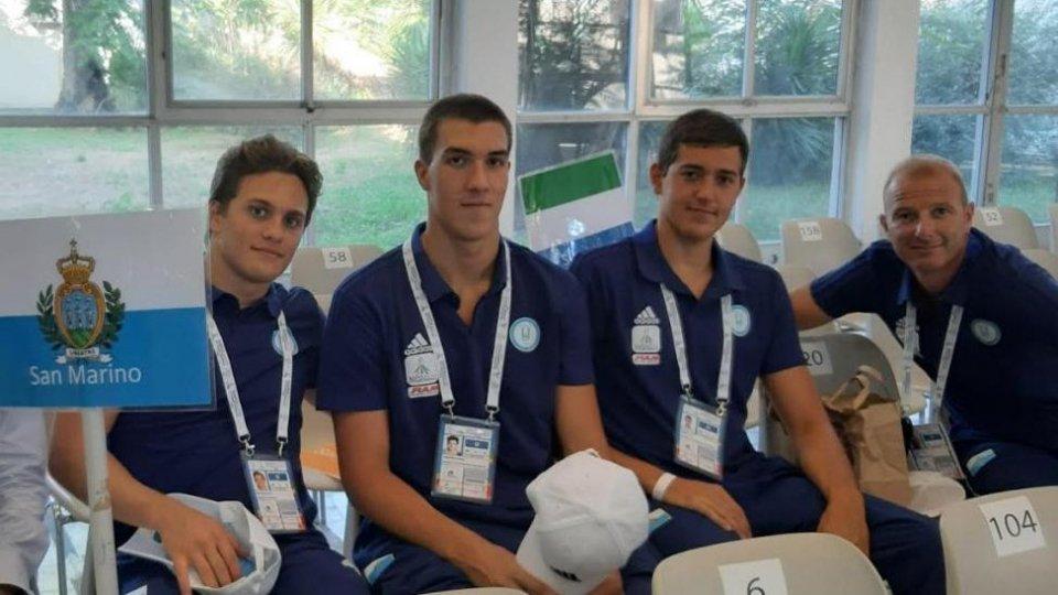 Universiadi 2019 - i nuotatori sammarinesi