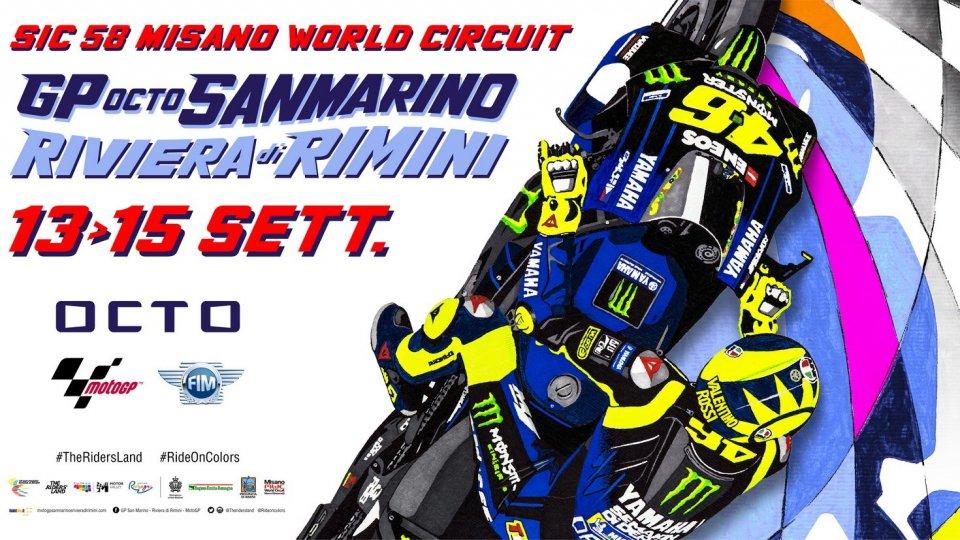 Valentino sul poster del GP di San Marino