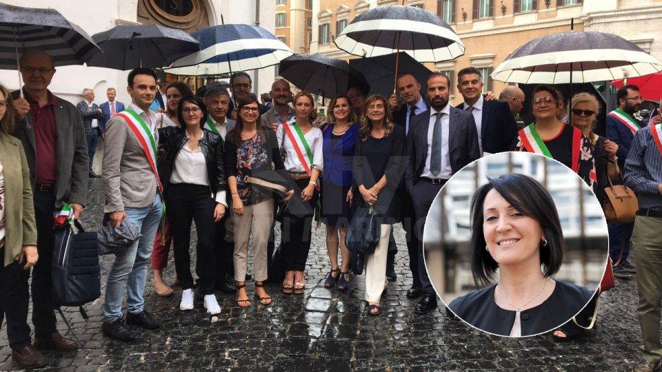 Tagli alle fusioni di Comuni, sit in a Roma