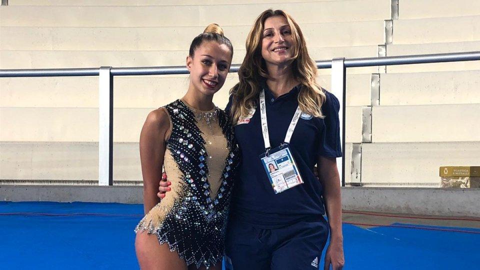 Universiadi: Lucia Castiglioni ha debuttato con le prove di cerchio e palla
