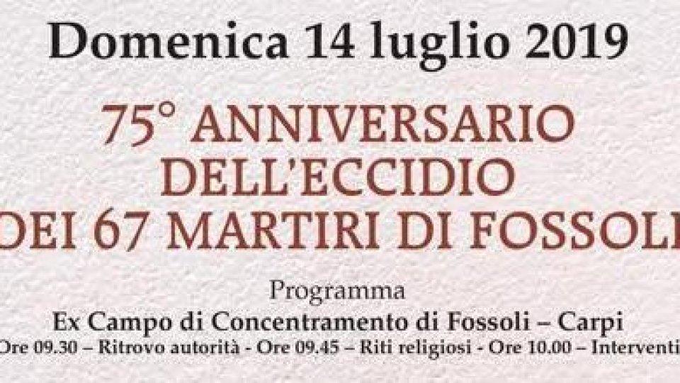 14 luglio, commemorazione del 75°anniversario dell'eccidio dei 67 martiri di Fossoli