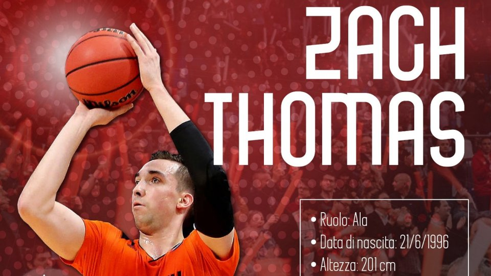 VL Pesaro: arriva Zach Thomas