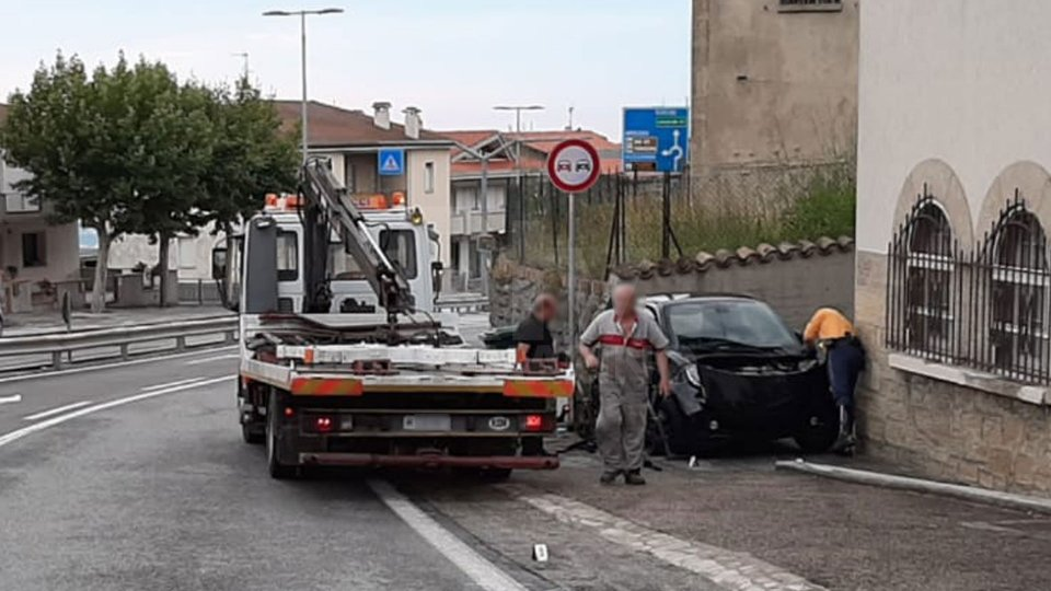 L'incidente a Borgo Maggiore