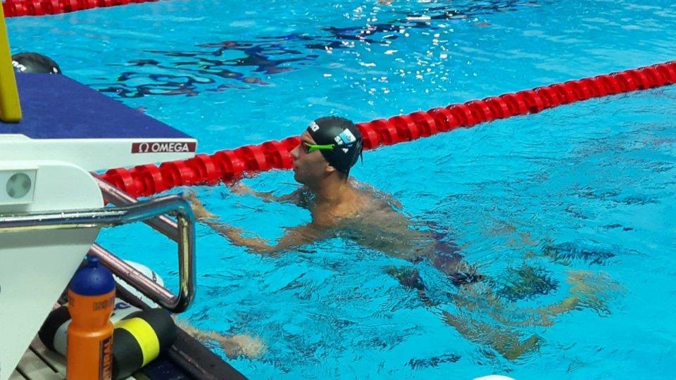 Giacomo Casadei chiude il mondiale nuotando i 50 rana in 30 secondi e 13 centesimi