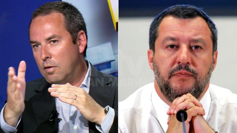 Teodoro Lonfernini e Matteo Salvini