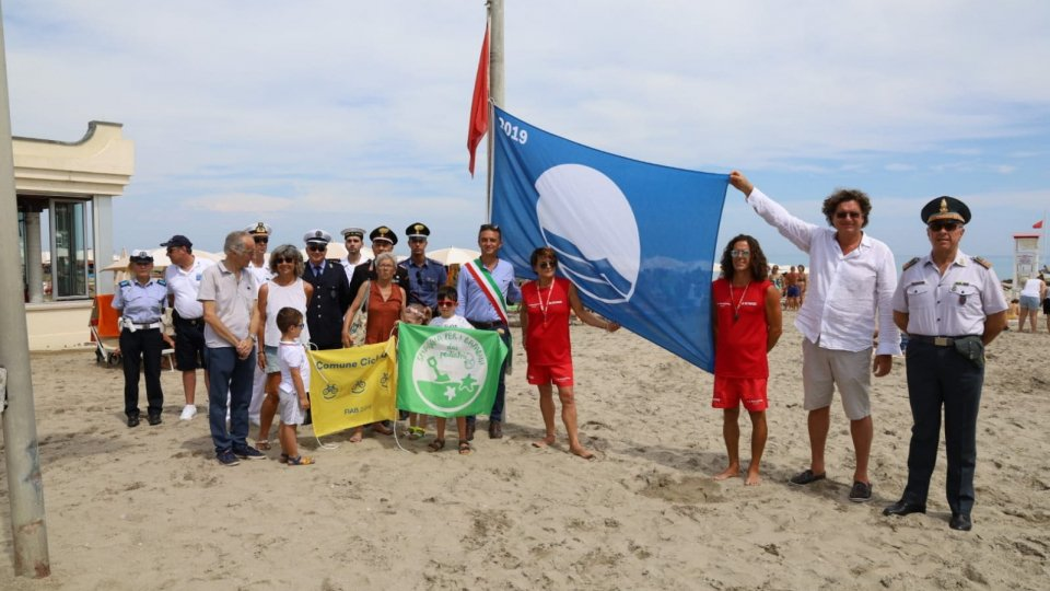 Misano conquista la bandiere blu, verde e gialla