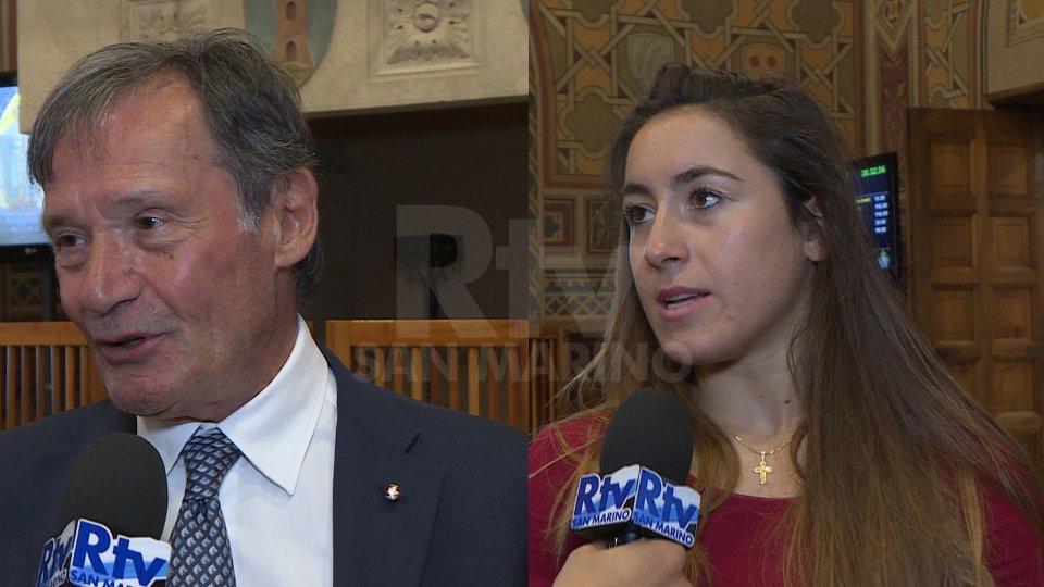 Flavio Roda e Sofia GoggiaFlavio Roda e Sofia Goggia