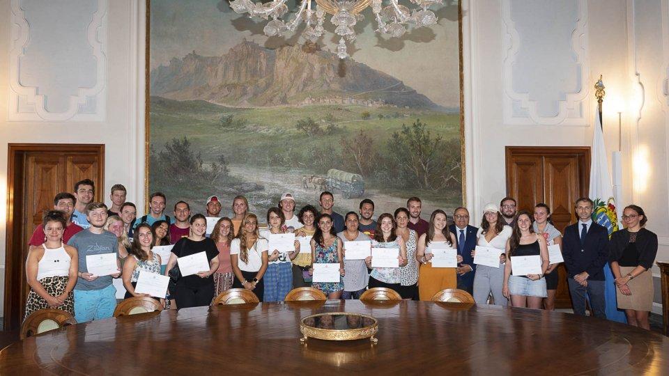 Consegnati i diplomi della XXXIXa edizione dei Soggiorni Culturali