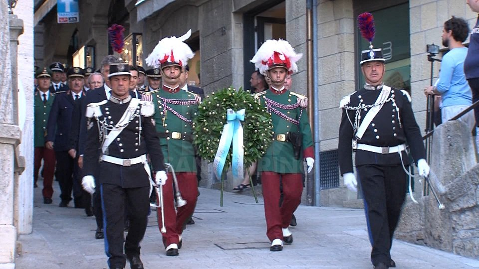 Anniversario delle Scampo di Garibaldi. la cerimonia in Piazza Garibaldi e della Libertà