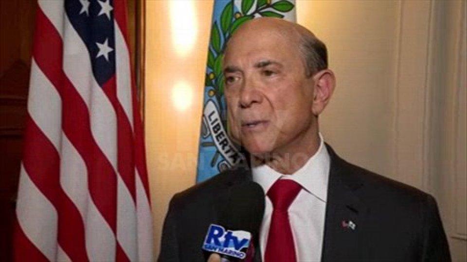 A San Marino l'Ambasciatore Usa Eisenberg: rapporti bilaterali consolidati e incontro con le banche
