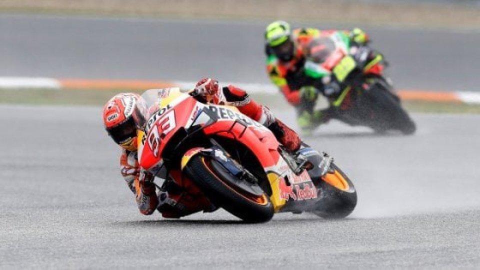 Moto Gp: pole per Marquez. Settimo Rossi