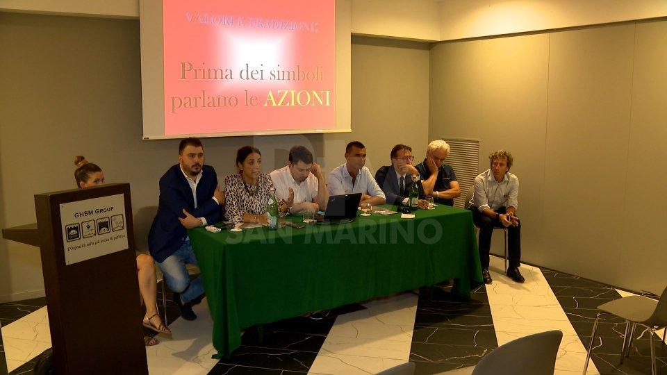 la conferenza stampail servizio di Luca Salvatori