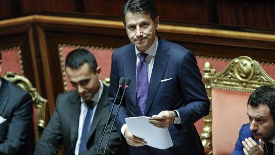 Le posizioni dei capigruppo di Lega e M5S al Senato Massimiliano Romeo e Stefano Patuanelli