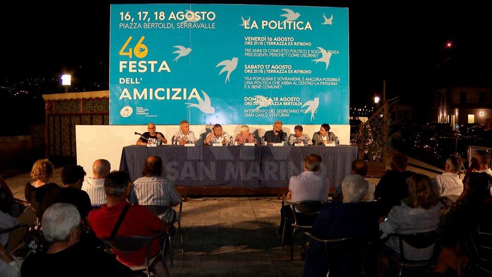 Il dibattito a SerravalleIl dibattito a Serravalle