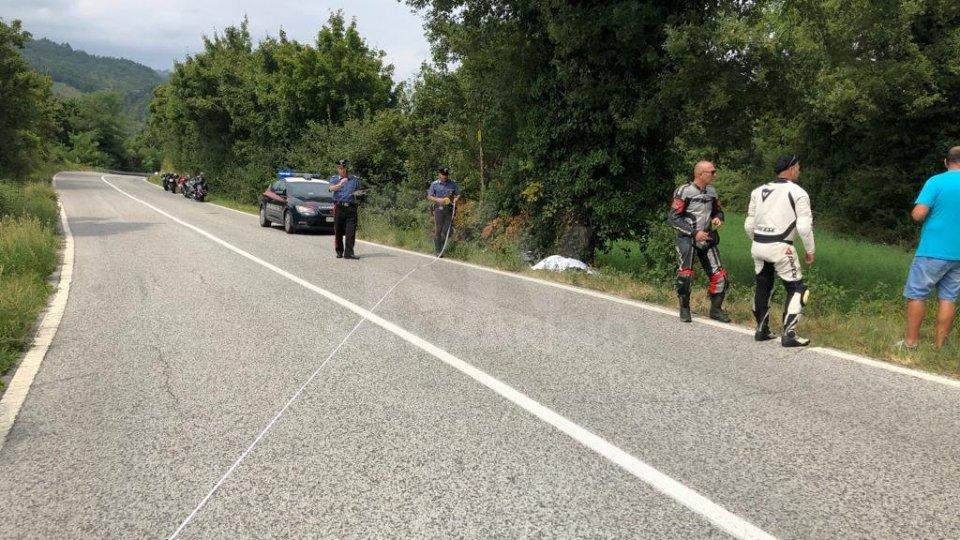 Incidente mortale a Maiolo: perde la vita un motociclista 49enne
