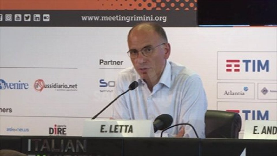 """Enrico Letta: """"Senza l'Italia, l'Europa è più debole"""""""