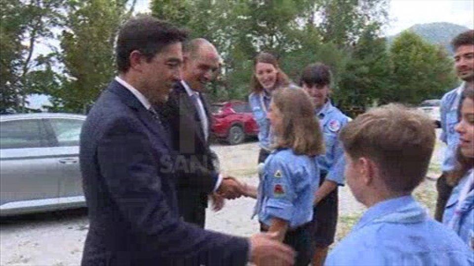 La Reggenza in visita per la prima volta al campo scout estivo di Talamello