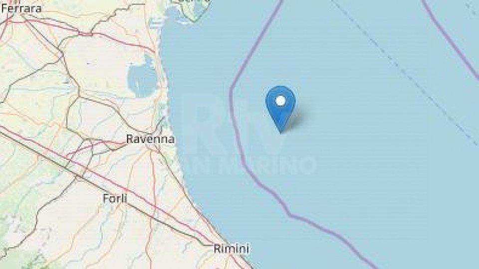 Scossa in mare al largo di Rimini