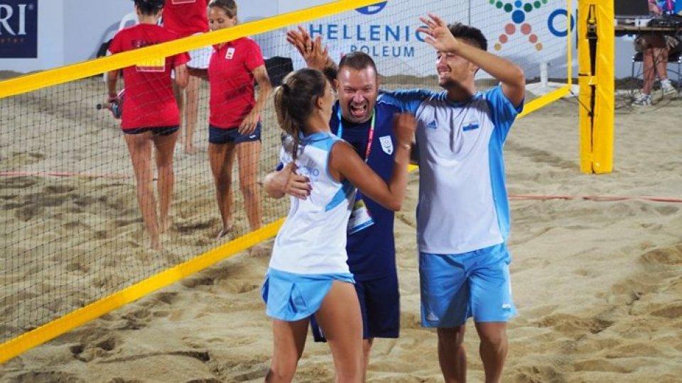 Mediterranean beach games: Grandi-Bombini in semifinale nel beach tennis