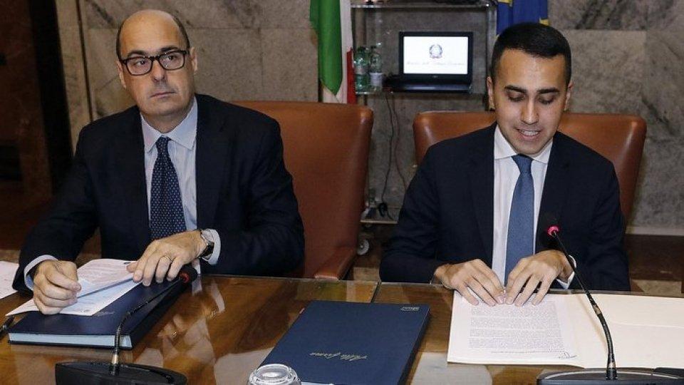 Nicola Zingaretti e Luigi Di Maio. Foto ansa