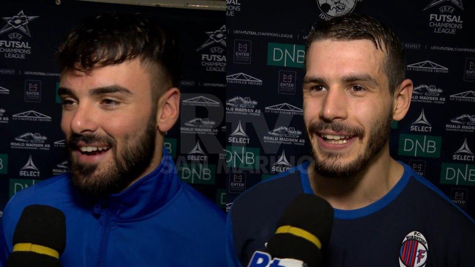 Fabio Belloni (laterale Fiorentino Futsal) e Claudio Righi (laterale Fiorentino Futsal)Fabio Belloni (laterale Fiorentino Futsal) e Claudio Righi (laterale Fiorentino Futsal)