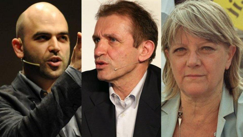 Roberto Saviano, Antonio Boschini e Rita Bernardini