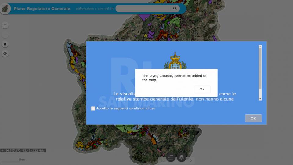 Schermata dal sito mappeonline.pa.smil sito oscurato