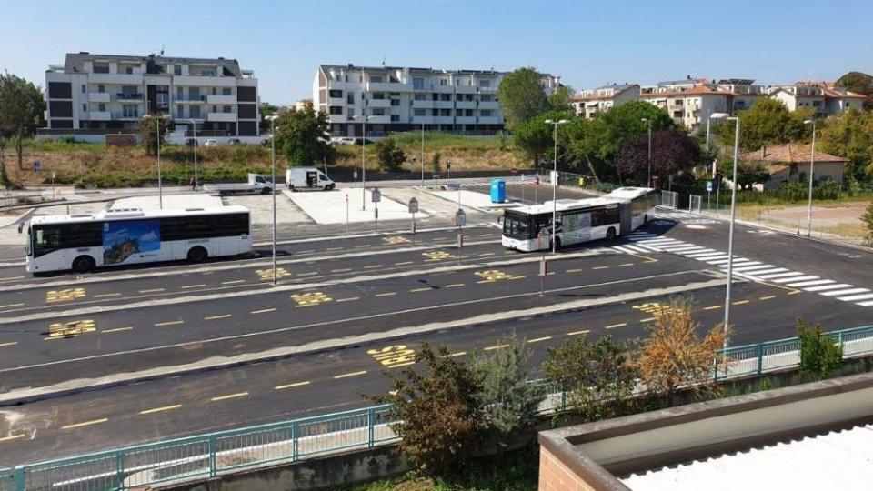 Conclusi i lavori per il nuovo capolinea del trasporto pubblico al polo scolastico di Viserba