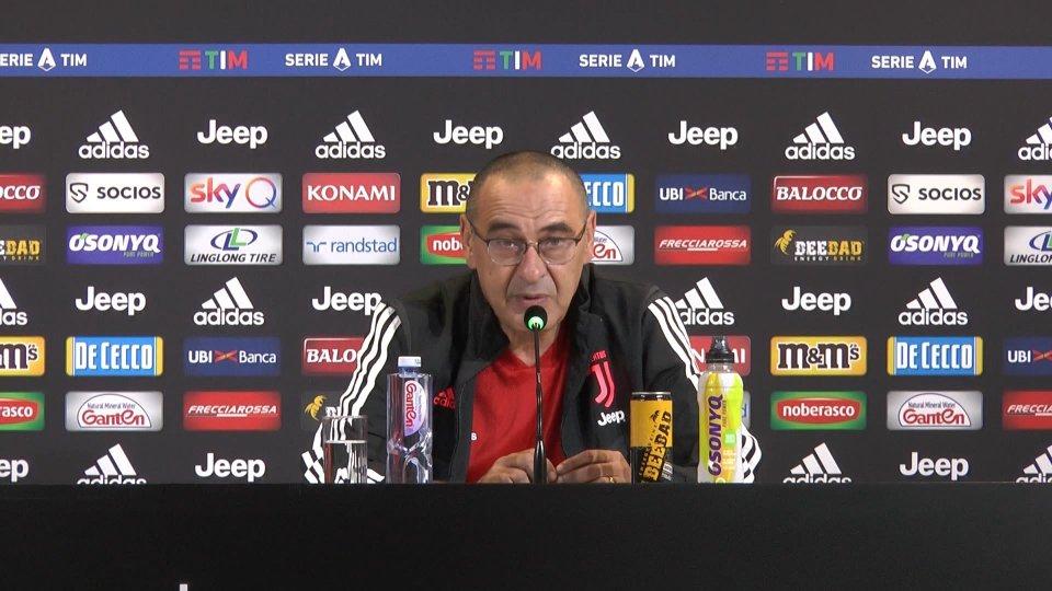 La conferenza stampa di Maurizio Sarri