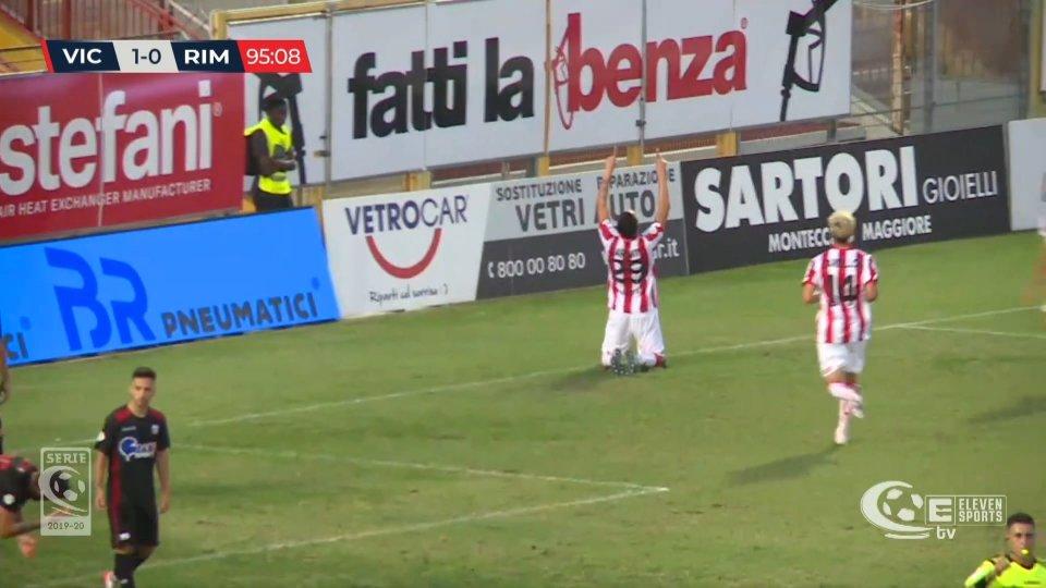 Il Rimini cade a Vicenza 2-0