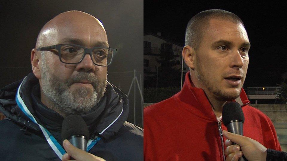 Andrea Gasperoni Claudio ZonziniI commenti del dopo partita