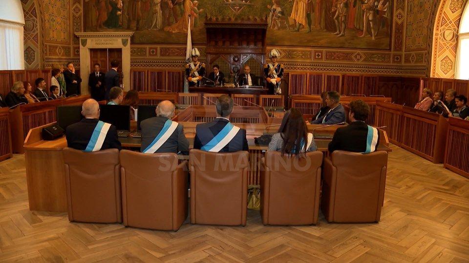 la cerimonia a Palazzo