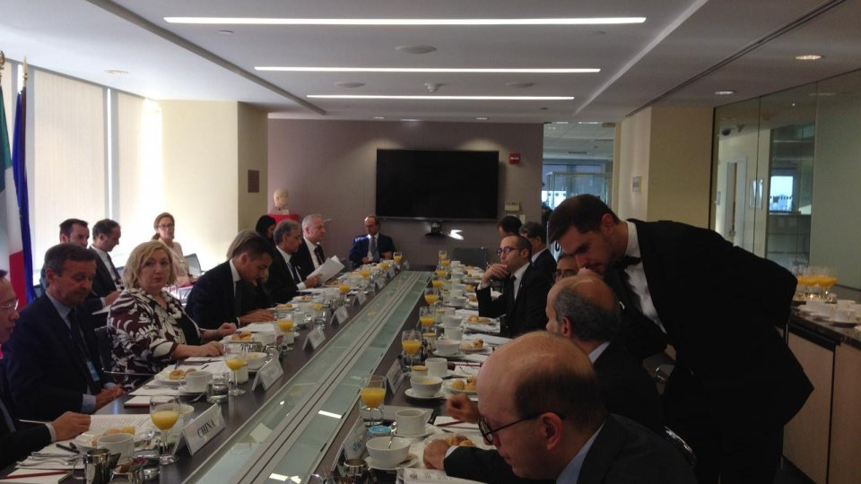 Incontro con il Ministro Di Maio e Vice Ministro Del Re a New York