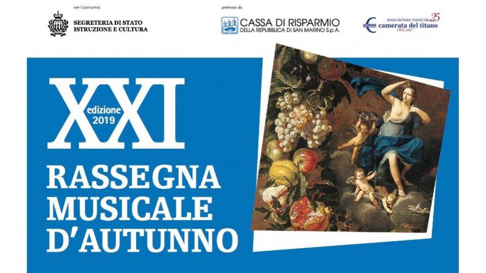 Al via la XXI Rassegna Musicale d'Autunno