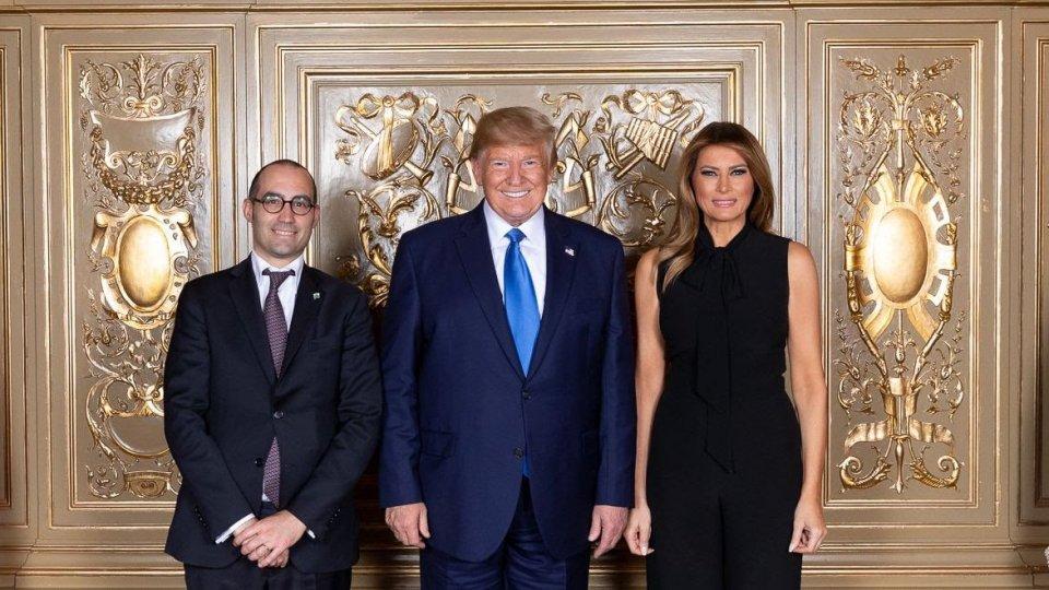 Il Segretario di Stato Renzi con il Presidente degli Stati Uniti Donald Trump e la first lady Melania Trump