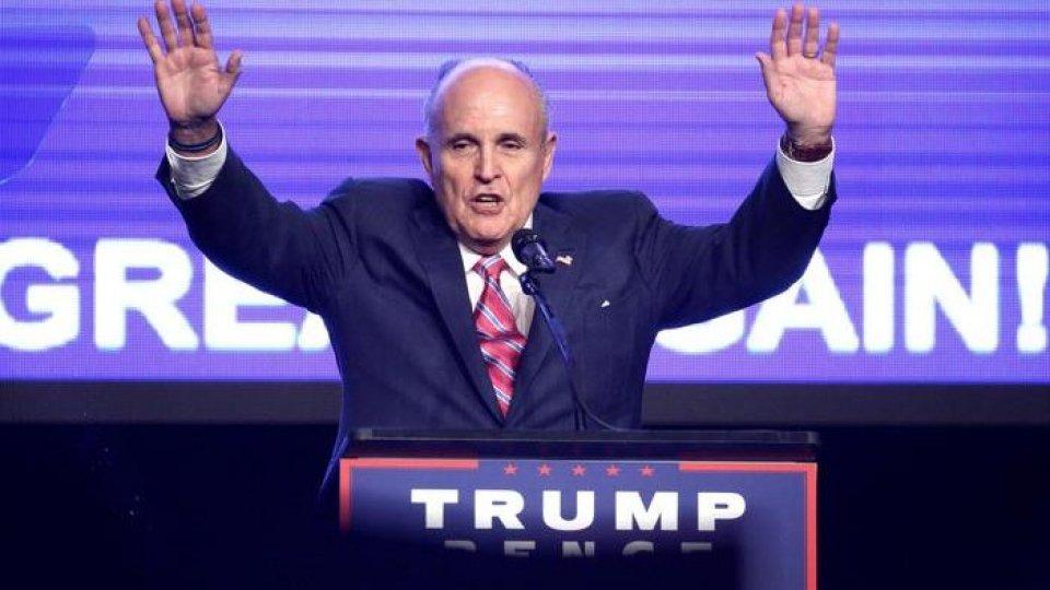 """Rudolph Giuliani. Foto Ansa""""Kievgate"""": Giuliani vuole testimoniare al Congresso. """"Il Presidente non ha fatto nulla di sbagliato"""""""