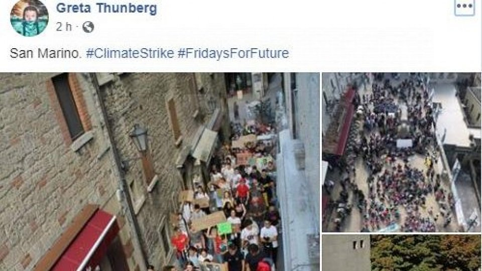 Fridays for future: Greta condivide le foto dal Titano