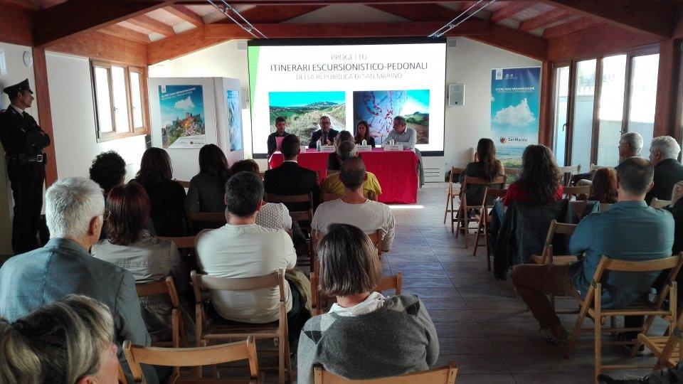 In occasione della Giornata Mondiale del Turismo presentato a Palazzo Graziani il Cammino del Titano
