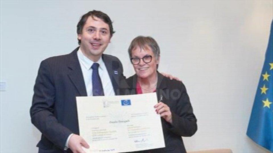 Giovagnoli premiato a Strasburgo