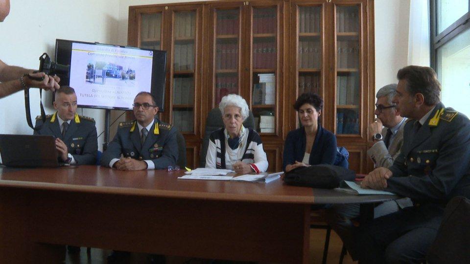 La conferenza stampa Fiamme GialleOperazione Calypso
