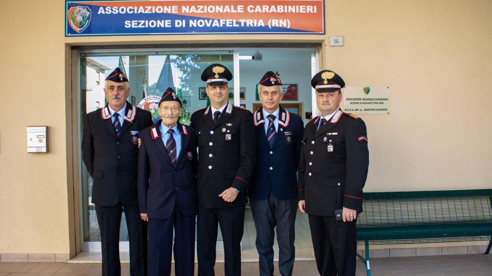 Il Capitano Carmelo Carraffa in visita alla sezione   ANC di Novafeltria