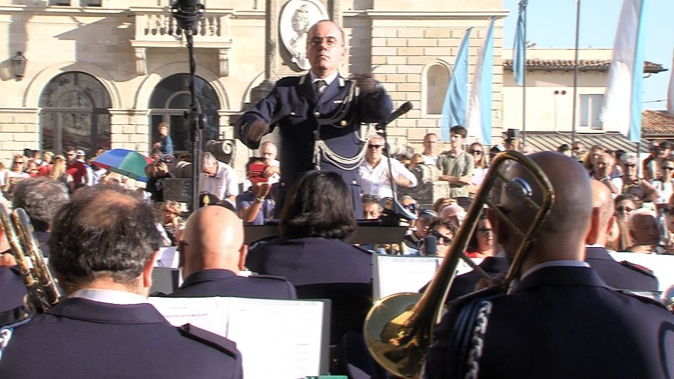 Concerto della Banda Militare in onore dei nuovi Capitani Reggenti