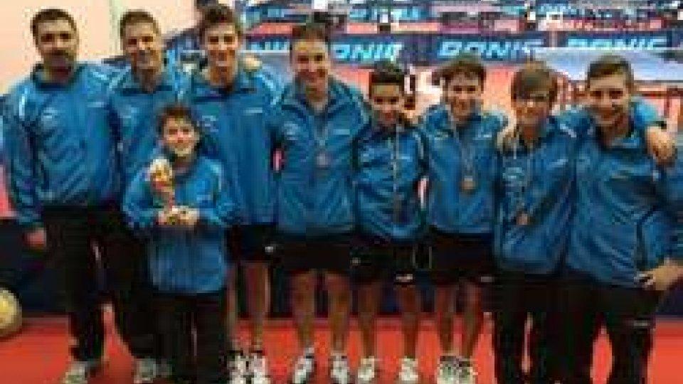 Tennistavolo, a Senigallia i pongisti sammarinesi fanno incetta di medaglie