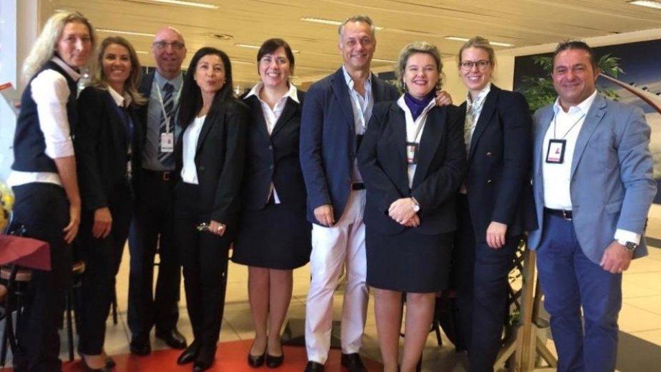 """AIRiminum: """"Arrivederci Lufthansa! Un party per salutare il volo per Monaco Rimini"""""""