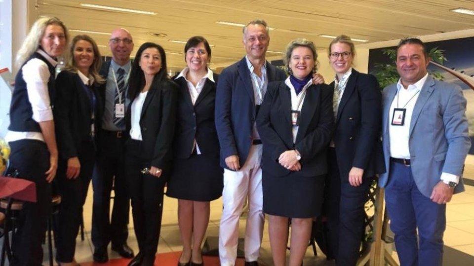 La festa per Lufthansa all'aeroporto